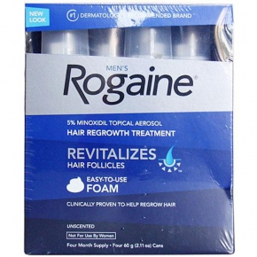 Bộ 4 chai Foam mọc tóc Nam Men's Rogaine Revitalizes Hair Follicles ( 60g x 4 )